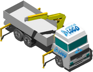 Camión Pluma y Grúa autocargadora @ autoescuelas LOGO Mundial | Vivero | Galicia | España